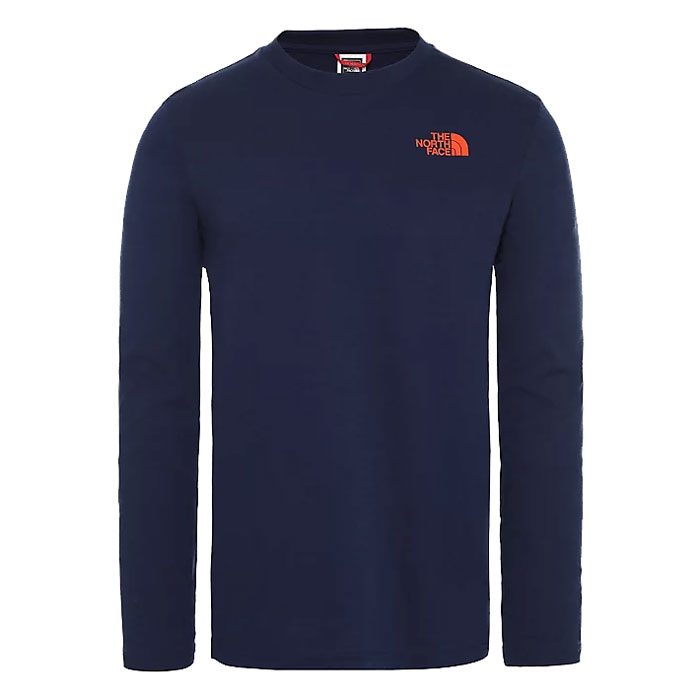 tričko THE NORTH FACE M L/S Easy Tee Montague Blue