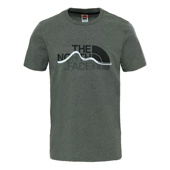 tričko THE NORTH FACE M S/S Mountain Line Tee Tnf Medium Grey