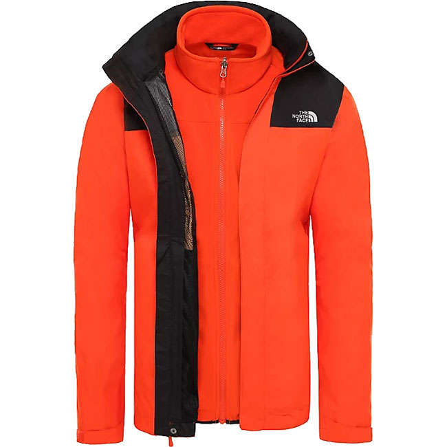 bunda THE NORTH FACE M Evolve II Triclimate Jkt. Acrylic Orange