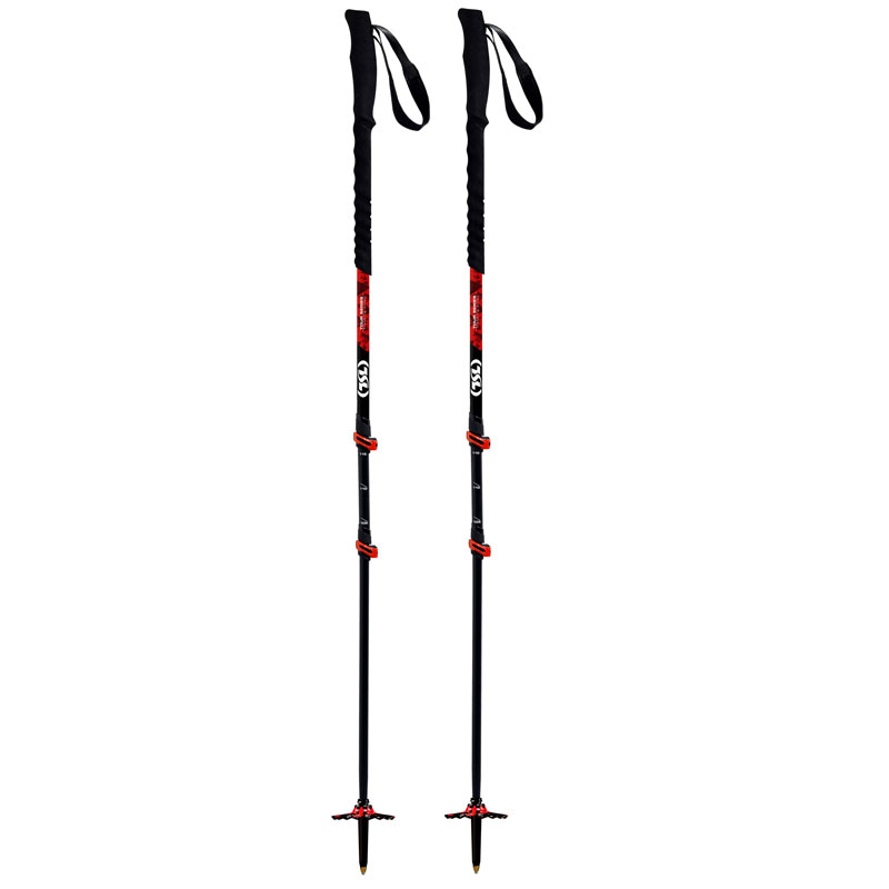 palice TSL Outdoor Tour CARBON 3 Cross Red