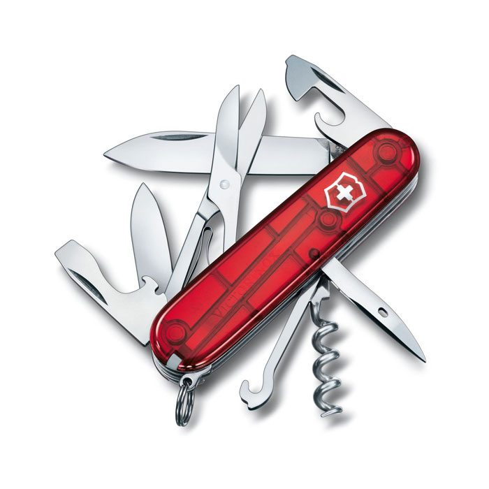 nôž VICTORINOX Climber Red Transparent