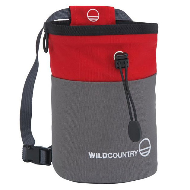 vrecko na magn�zium WILD COUNTRY Petit Bloc Chalk Bag Grey-Red