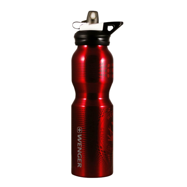 f�a�a WENGER Bottle 800ml Red Shiny SportTop
