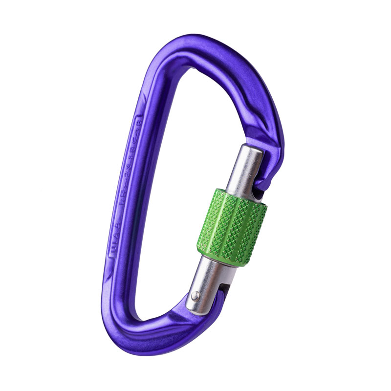 karabína WILD COUNTRY Session Screw Gate Purple/Green