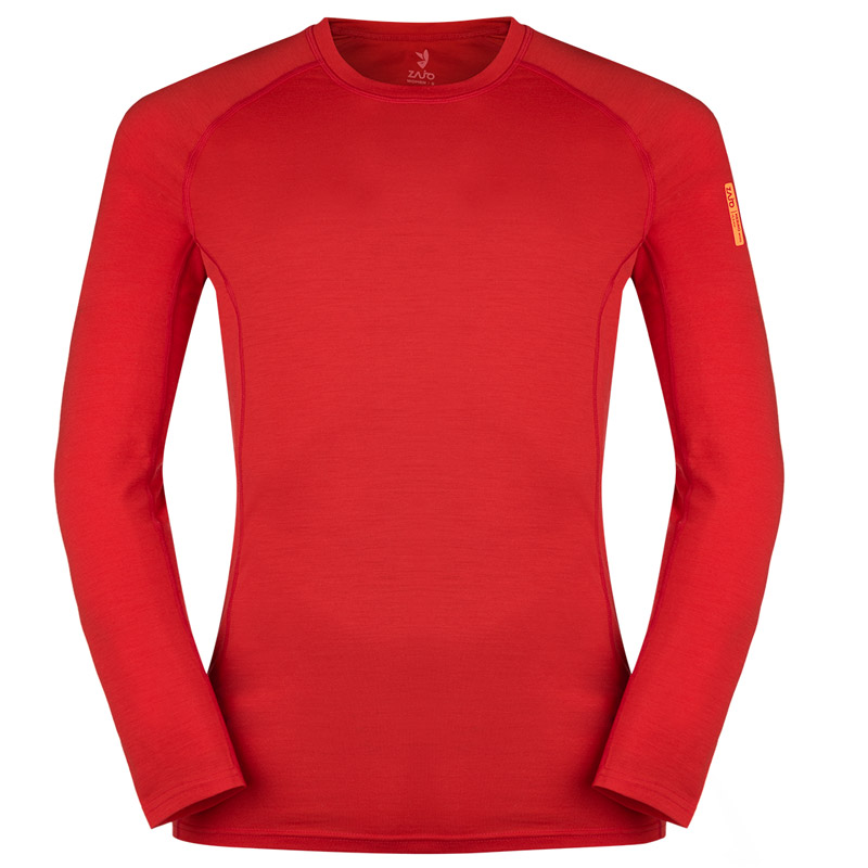 ZAJO Bjorn Merino Tshirt LS Racing Red