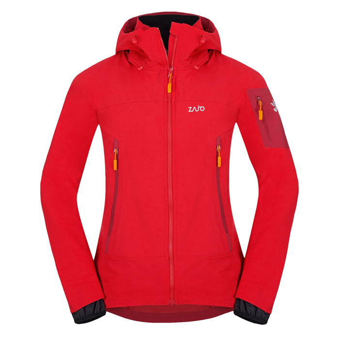 bunda ZAJO Air LT Hoody Jkt Racing Red